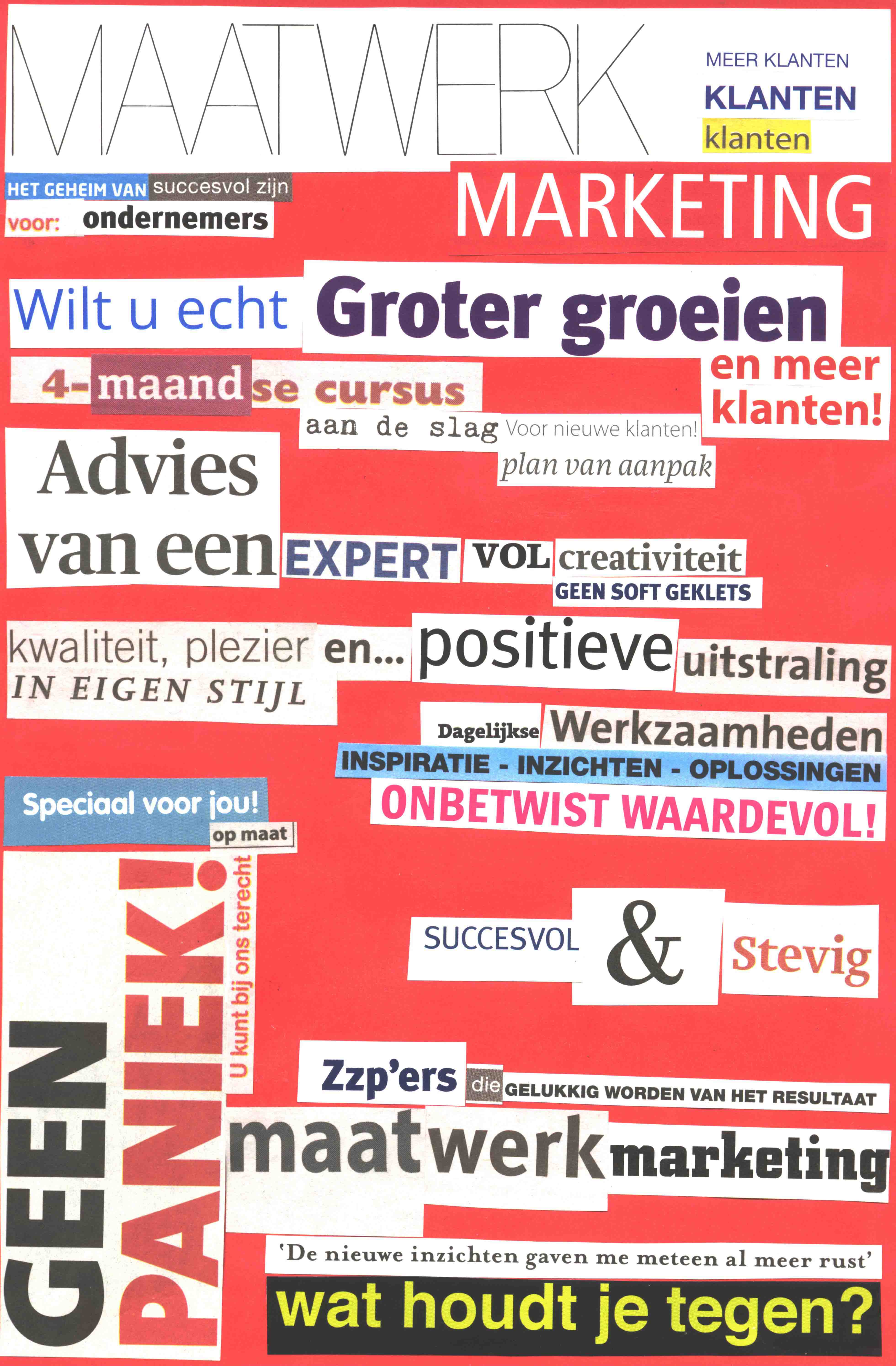 Collage Maatwerk Marketing